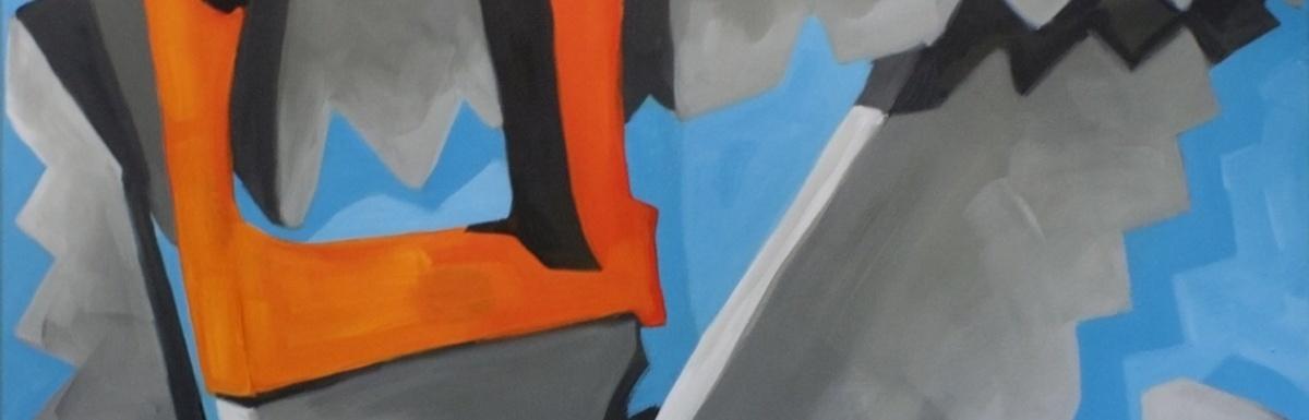 Liselot Veenendaal, Ge-saw-ten gestalte, acryl op canvas, 2017