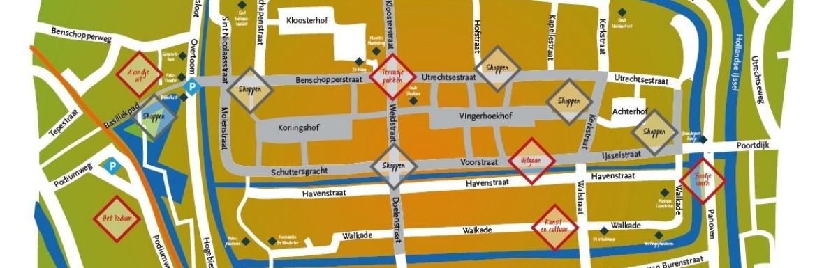 Plattegrond binnenstad IJsselstein