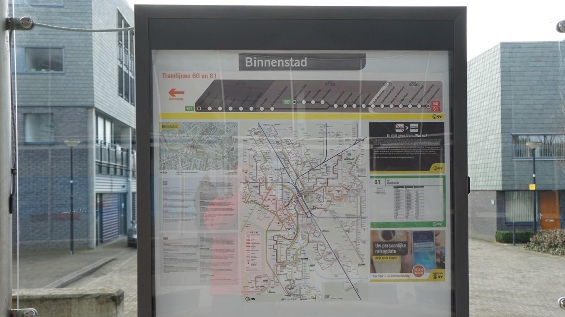 ramhalte binnenstad informatiebord
